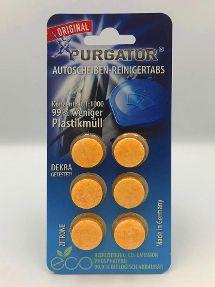PURGATOR Autoscheiben-Reiniger Tabs Zitrone